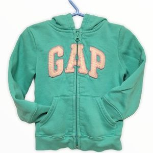Baby Gap zippered hoody in Deco green size 2 years